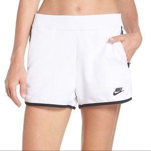 Nike sportswear tech pack high waist white shorts